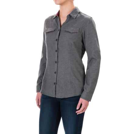 Columbia Sportswear Simply Put II Flannel Shirt - Long Sleeve (For Women) in Shark - Closeouts