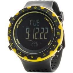 Columbia Sportswear Singletrak Sport Watch in Black/Yellow/Negative