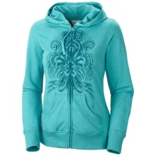 Columbia Sportswear Siren Sing Along Hoodie Sweatshirt - Zip Front  (For Women) in Geyser - Closeouts