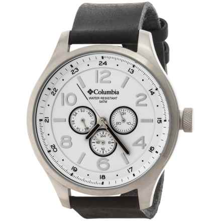 Columbia Sportswear Skyline Watch - Leather Band (For Men and Women) in Black/White - Closeouts