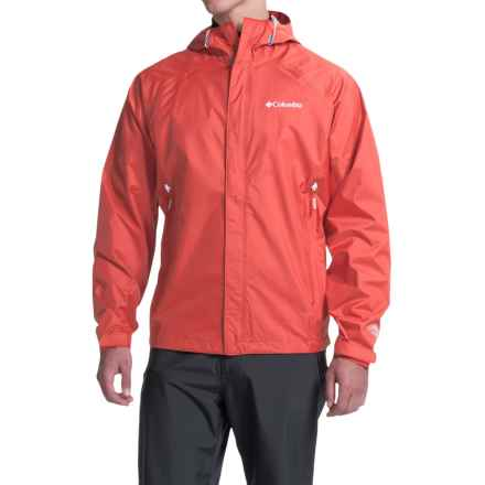 Columbia Sportswear Sleeker Omni-Tech® Rain Jacket - Waterproof (For Men) in Super Sonic - Closeouts