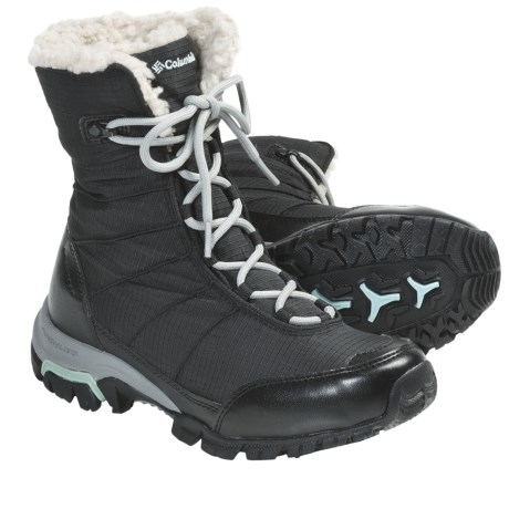 Columbia Sportswear Snolucky Omni-Heat® Winter Boots - Waterproof (For Women) in Black/Gulfstream