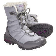 Columbia Sportswear Snolucky Omni-Heat® Winter Boots - Waterproof (For Women) in Varsity Grey/Raspberry - Closeouts