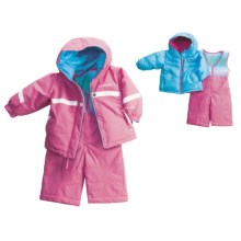 Columbia Sportswear Snow Brooklyn Overall Bib Set - Reversible (For Infant Girls) in Pink Phlox - Closeouts