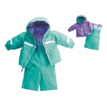 Columbia Sportswear Snow Brooklyn Overall Bib Set - Reversible (For Infant Girls) in Reef - Closeouts