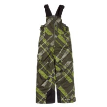 Columbia Sportswear Snow Check Bib Snow Pants - Insulated, Grow Cuffs (For Boys) in Tank Plaid - Closeouts