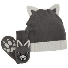 Columbia Sportswear Snow Fox Beanie Hat and Mittens Set (For Infants) in Grill/Oyster - Closeouts