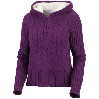 Columbia Sportswear Snow Honey Hoodie Sweater (For Women) in Plum
