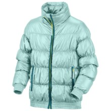 Columbia Sportswear Snow Puff Jacket - Insulated (For Little Girls) in Aqua Haze - Closeouts