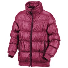 Columbia Sportswear Snow Puff Jacket - Insulated (For Little Girls) in Rouge - Closeouts