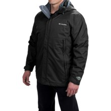 Columbia Sportswear Snow Raid Interchange Omni-Tech® Jacket- Waterproof, 3-in-1 (For Men) in Black - Closeouts
