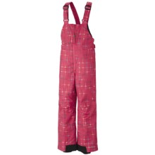 Columbia Sportswear Snow Slope Bib Overalls - Insulated (For Girls) in Afterglow Star Print - Closeouts