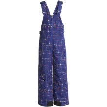 Columbia Sportswear Snow Slope Bib Overalls - Insulated (For Girls) in Light Grape Star Print - Closeouts