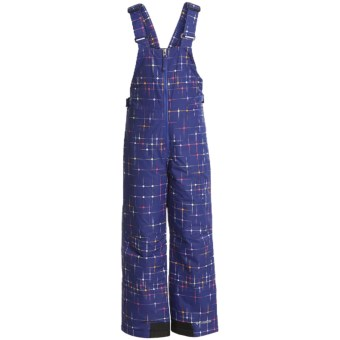 Columbia Sportswear Snow Slope Bib Overalls - Insulated (For Girls) in Light Grape Star Print