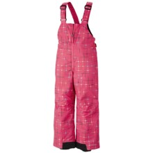 Columbia Sportswear Snow Slope Bib Overalls - Insulated (For Toddlers) in Afterglow Star Pring - Closeouts