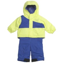 Columbia Sportswear Snow Slush Reversible Jacket and Bib Set (For Infants) in Neon Light/Light Grape - Closeouts