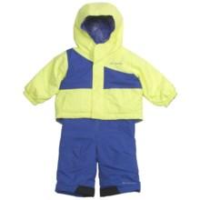 Columbia Sportswear Snow Slush Reversible Jacket and Bib Set (For Infants) in Neon Light/Light Grape - Closeouts