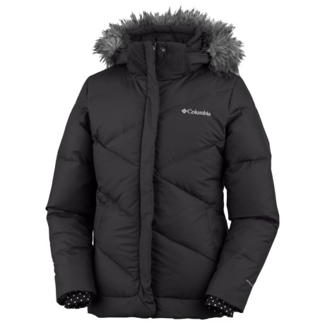 Columbia Sportswear Snow Trinity Down Bomber Jacket - Insulated (For Toddler Girls) in Black