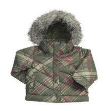 Columbia Sportswear Snow Trinity Down Bomber Jacket - Insulated (For Toddler Girls) in Surplus Green Print - Closeouts