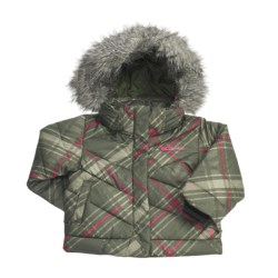 Columbia Sportswear Snow Trinity Down Bomber Jacket - Insulated (For Toddler Girls) in Surplus Green Print