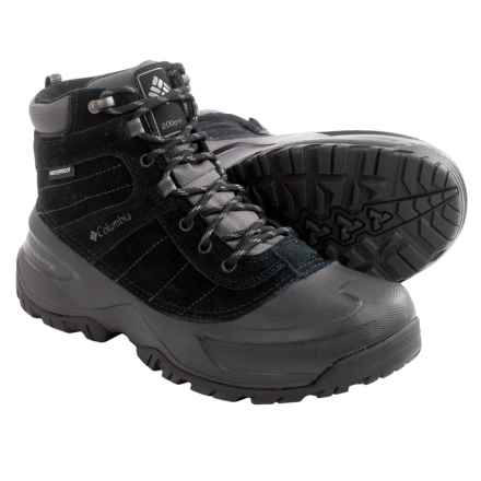 Columbia Sportswear Snowblade Snow Boots - Waterproof, Insulated (For Men) in Black/Charcoal - Closeouts