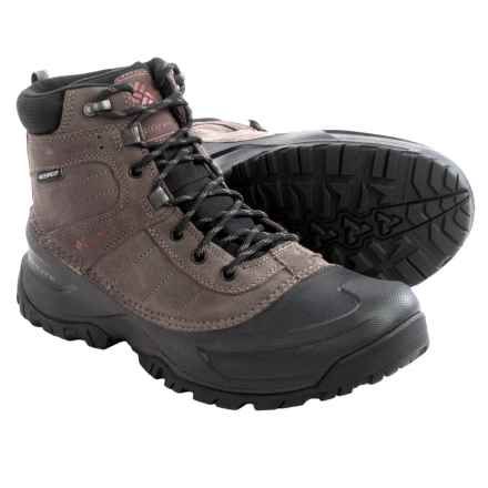 Columbia Sportswear Snowblade Snow Boots - Waterproof, Insulated (For Men) in Mud/Dark Ginger - Closeouts