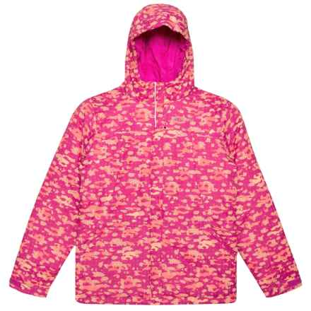 Columbia Sportswear Snowman Builder Jacket - Insulated (For Little and Big Girls) in Deep Blush Floral Camo