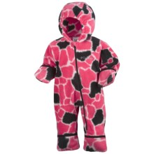 Columbia Sportswear Snowtop II Bunting - Fleece (For Infants) in Afterglow/Giraffe Print - Closeouts