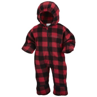 Columbia Sportswear Snowtop II Bunting - Fleece (For Infants) in Bright Red Lumberjack