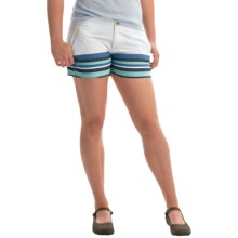 Columbia Sportswear Solar Fade Shorts - UPF 30 (For Women) in Coastal Blue Stripe - Closeouts