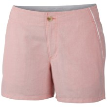 Columbia Sportswear Solar Fade Shorts - UPF 30 (For Women) in Hot Coral/Oxford - Closeouts