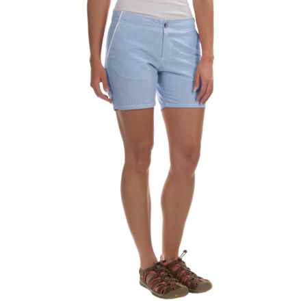 Columbia Sportswear Solar Fade Shorts - UPF 30 (For Women) in Stormy Blue - Closeouts