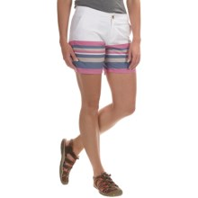 Columbia Sportswear Solar Fade Shorts - UPF 30 (For Women) in Tropic Pink Stripe - Closeouts
