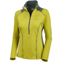 Columbia Sportswear Solar Polar Pullover - UPF 50, Zip Neck (For Women) in Chartreuse - Closeouts