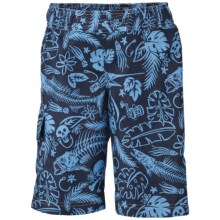 Columbia Sportswear Solar Stream Boardshorts - UPF 30 (For Boys) in Collegiate Navy Pfg Print - Closeouts