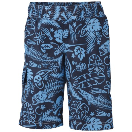 Columbia Sportswear Solar Stream Boardshorts - UPF 30 (For Boys) in Collegiate Navy Pfg Print