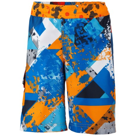 Columbia Sportswear Solar Stream Boardshorts - UPF 30 (For Boys) in Hyper Blue Print