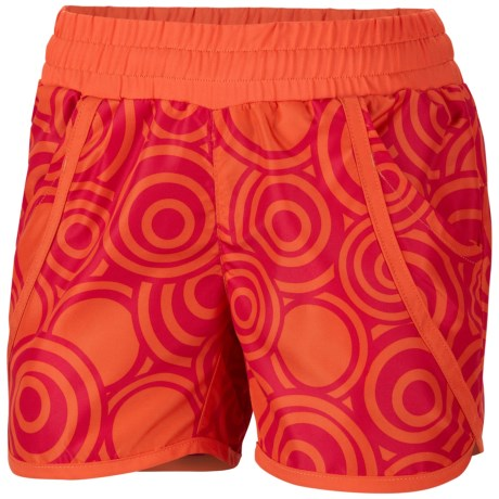 Columbia Sportswear Solar Stream Boardshorts - UPF 30 (For Girls) in Bright Rose Circles