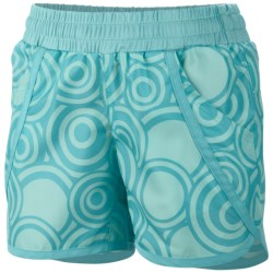 Columbia Sportswear Solar Stream Boardshorts - UPF 30 (For Girls) in Opal Blue Circles