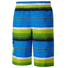 Columbia Sportswear Solar Stream II Boardshorts - UPF 30 (For Boys) in Hyper Blue Stripe - Closeouts