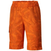 Columbia Sportswear Solar Stream II Boardshorts - UPF 30 (For Boys) in Tangy Orange Print - Closeouts