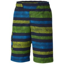 Columbia Sportswear Solar Stream II Boardshorts - UPF 30 (For Little and Big Boys) in Collegiate Navy Stripe - Closeouts