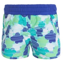 Columbia Sportswear Solar Stream II Boardshorts - UPF 30 (For Toddler Girls) in Chameleon Green Print - Closeouts