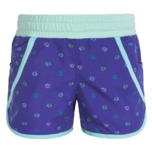 Columbia Sportswear Solar Stream II Boardshorts - UPF 30 (For Toddler Girls) in Light Grape Print - Closeouts