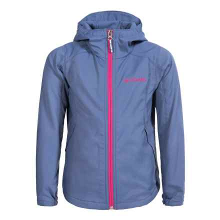 Columbia Sportswear Splash Flash Soft Shell Jacket (For Little and Big Girls) in Bluebell - Closeouts