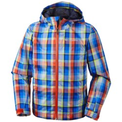 Columbia Sportswear Splash Maker II Rain Jacket - Waterproof (For Kids and Youth) in Spicy Plaid