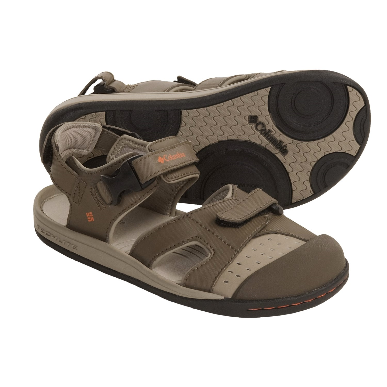 Columbia Sportswear Splasher Sport Sandals (For Youth) in Mud/Burnt