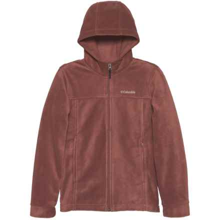 Columbia Sportswear Sportswear Flattop Ridge Fleece Hoodie (For Little and Big Boys) in Red Rocks