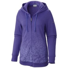 Columbia Sportswear Spotted Ombre Hoodie - Full Zip (For Women) in Purple Lotus - Closeouts