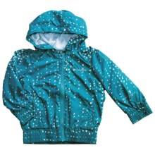 Columbia Sportswear Sprinkler Break Bomber Jacket (For Girls) in Mariner Water Drop Print - Closeouts